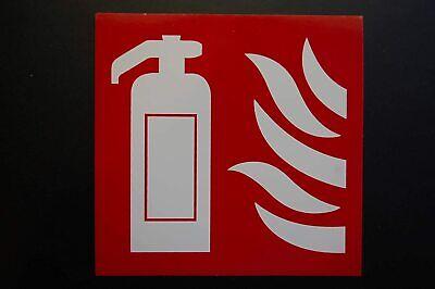 Fire Extinguisher Logo Sticker 4 X 4 Self Adhesive Safety Weatherproof Ps45