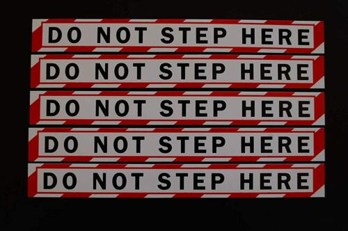 """(5 Pack) No Step Sticker Vinyl Decal -Warning Safety Compliance 8"""" X 1"""" (PS85X5)"""