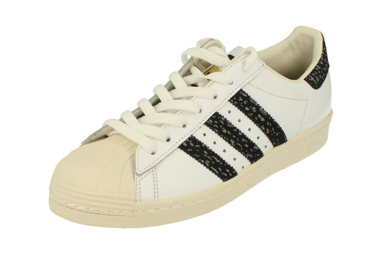 adidas Originals Superstar 80s Leather White Snakeskin Mens Shoes Size 10 Bz0148