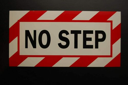 No Step Sticker Vinyl Decal Safety Warning Label Self Adhesive (PS33)