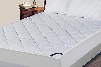 U.S. Polo Association Damask Diamond Striped White Mattress Pad - 5 -