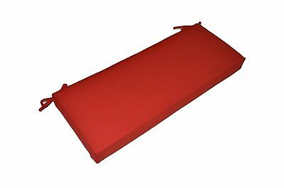 Outdoor Swing Cushions (Outdoor Red Cushion for Bench, Swing, Glider ~ Choose Size & Foam)