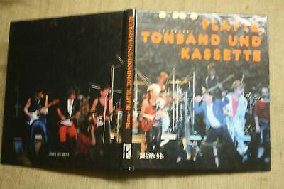 Buch Tonband, Grammophon, Tontechnik, Mikrofon, Schallplatte, Kassette, DDR 1988