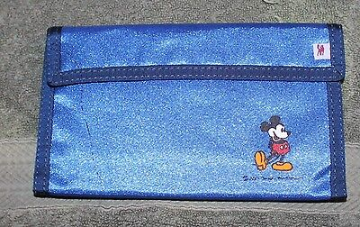 NICE OLDER DISNEY MICKEY MOUSE BLUE LARGE WALLET