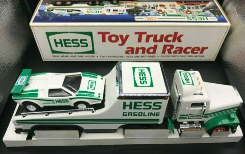 1991 NEW HESS Oil Co Toy Truck and Racer with Lights & Friction Motor Tested