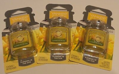Lot 3 Brand New YANKEE CANDLE FLOWERS IN THE SUN CAR JAR ULTIMATE