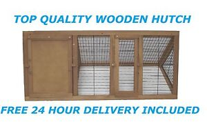Wooden Outdoor Triangle Rabbit Hutch and Run Guinea Pig Ferret Coop Cage