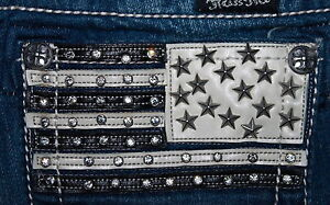 NEW-MISS-ME-JEANS-STARS-AND-STRIPES-BUCKLE-EXCLUSIVE