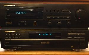 Marantz Stereo Receiver and CD Carousel - With Remotes