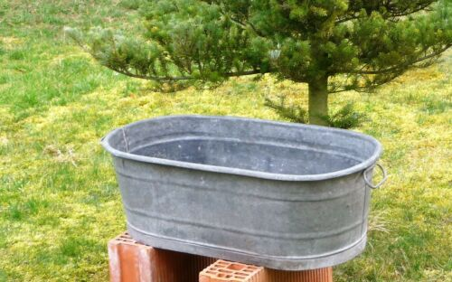 Antique Vintage Galvanized Bathtub Galvanized Metal Bath Tub Old Galvanized