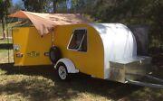 Yellow squaredrop, Teardrop trailer camper Narellan Vale Camden Area Preview