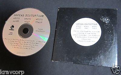 SOCIAL DISTORTION 'WHITE LIGHT WHITE HEAT WHITE TRASH' 1996 PROMO CD
