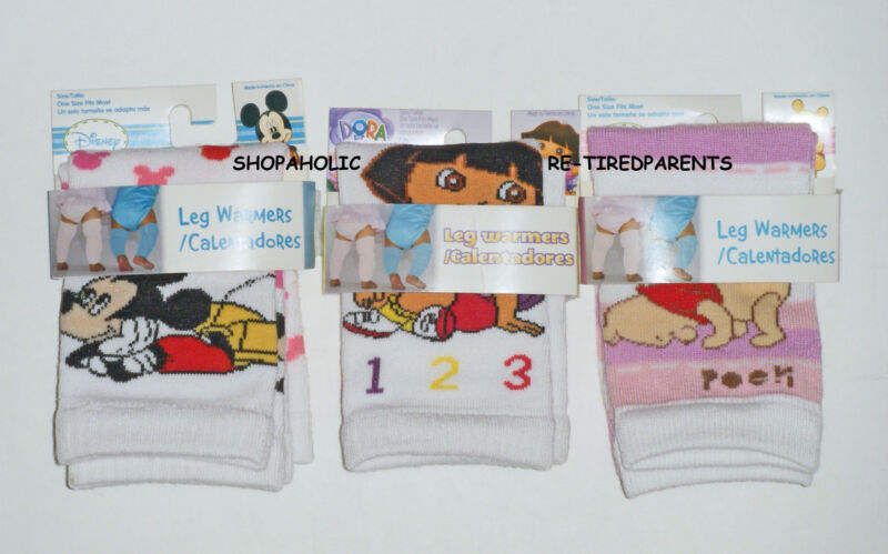 INFANT - TODDLER - LEG WARMERS – KNEE PROTECTION - MICKEY – DORA - POOH - OSFM