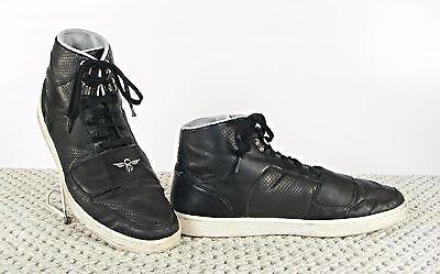 Creative Recreation Men's High Top Black Leather Cesario Lo Fashion Sneakers 13 Cesario Lo Tops