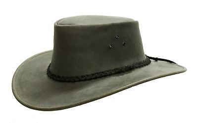 Kakadu Leder (Kakadu Packer Australien Style Outdoor Western Lederhut mit geflochtenem Hutband)