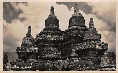 Postcard Indonesia Magelang Java Borobudur Barabudur RPPC c1918-36 NrMINT