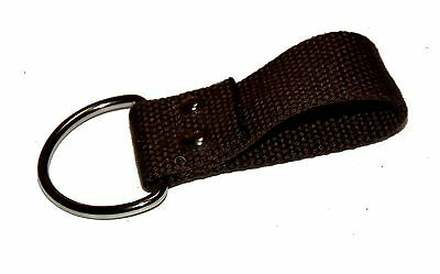 Brown Web Belt Loop Key Chain Holder 3 1/4