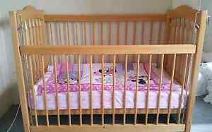 Australian baby cot including mattress for sale Punchbowl Canterbury Area Preview