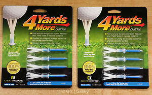 2 packs of 4 Yards More Golf Tees by Green Keepers -