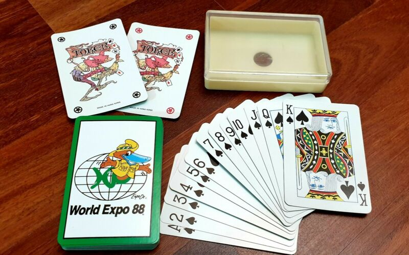 1988 World Expo Platypus Mascot Playing cards - Complete set in case