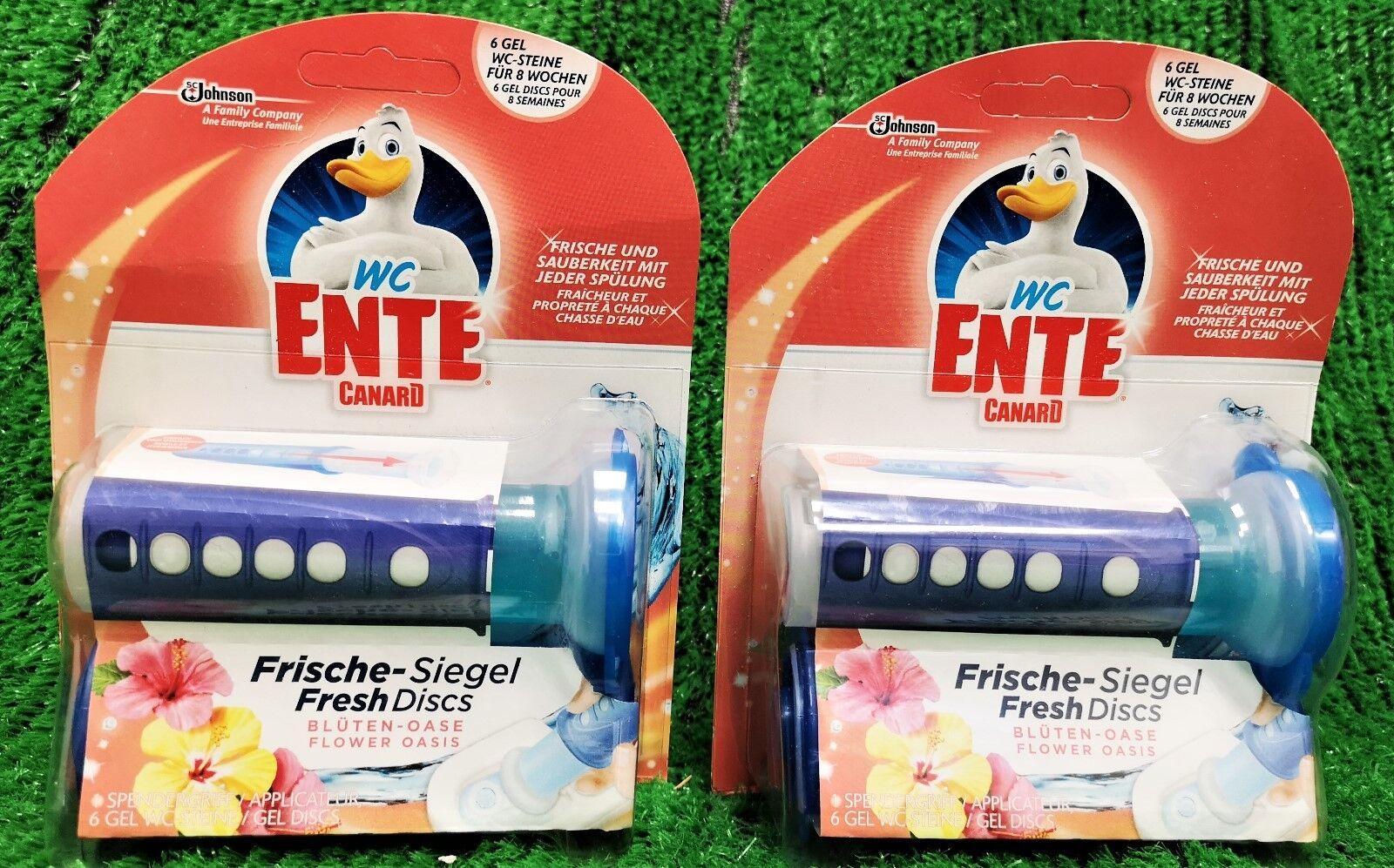 (13,75€/100g) 2x WC Ente Frische GEL Siegel BLÜTEN OSASE Kit (12Siegel) Vers.0€