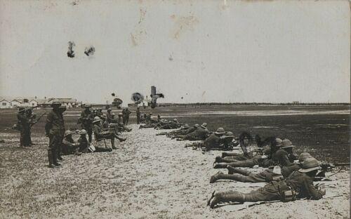 WW1 soldier group Territorial battalion on rifle range firing Range Gibraltar ?