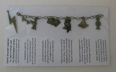 - 1 Antique bronze charm bracelet inspired by Harry Potter Philosophers Stone Set1