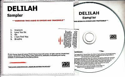 Delilah From The Roots Up  Sampler 2011 Uk Numbered 5 Track Promo Only Cd