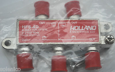 Way Hopper - 4-WAY COAX SPLITTER HOLLAND HFS-4D 5-2150Mhz DISH NETWORK APPROVED HOPPER & JOEY