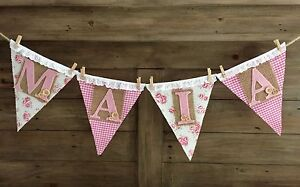 ❤️❤️ Beautiful custom made shabby chic bunting ❤️❤️ Balcatta Stirling Area Preview