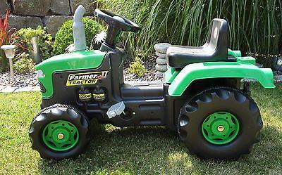 """Kinder Trettraktor mit Anhänger Kindertraktor  Tretauto Traktor """"Top °8053"""