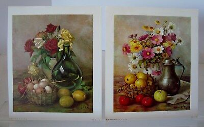 Vintage Ready to be Framed  Floral Print  Donald Art Co-b3