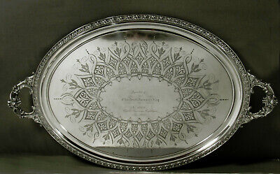 Whiting Sterling Tea Tray c1900 FAIRMAN FAMILY