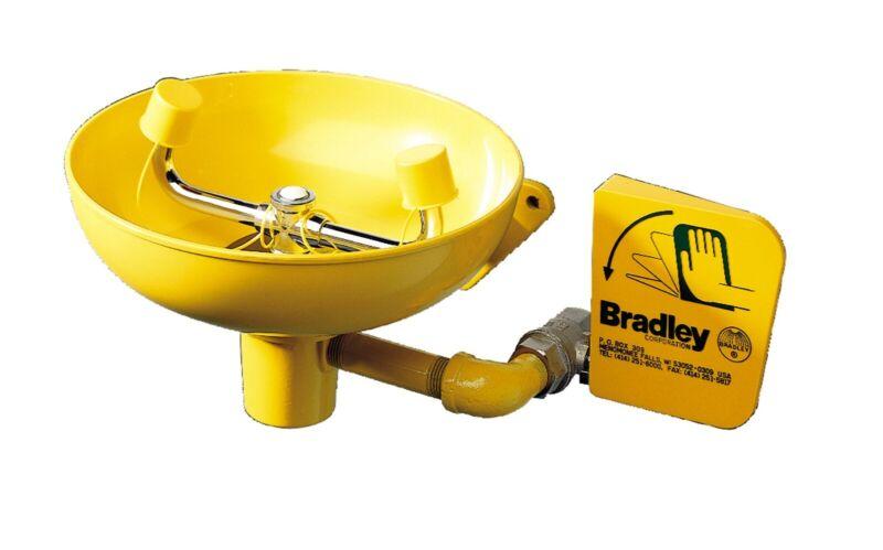 Bradley S19-220 Wall-Mounted Eyewash with Plastic Bowl