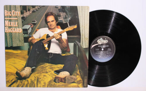 "Autographed Hand Signed MERLE HAGGARD Record Album Cover LP "" Big City """