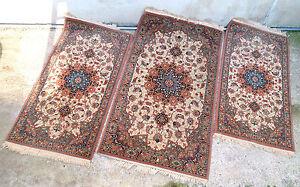 Eccezionale tris di tappeti persiani in lana per camera da - Tappeti da camera da letto ...