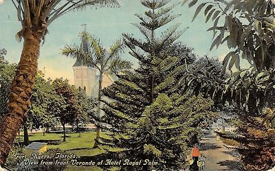 Fort Myers Florida~Hotel Royal Palm~Veranda View~Woman Girl on (For Women Fort Myers)