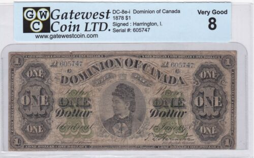 DOMINION OF CANADA 1878 $1