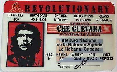 Che Guevara - Revolutionary / Drivers License  Novelty