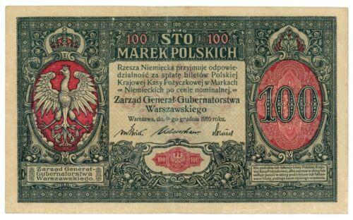 Poland ... P-15 ... 100 Marek ... 1916 ... (~): *VF*.