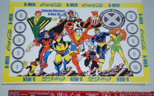 X-Men Marvel Super Hero Complete Bottle Cap Set 10 Brazil Coca Cola Coke