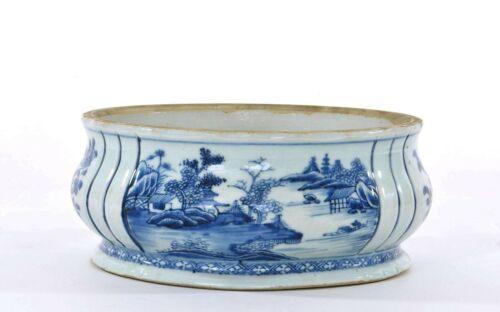 18th Century Chinese Blue & White Porcelain Censer Incense Burner Pot Bowl