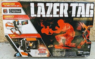 Nerf Lazer Tag Single Blaster Pack Phone Laser Tag Game Pack New in Open Box