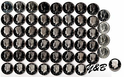 1964 - 2016 S Proof Kennedy Half Dollar Complete Set (include silver proof ,SMS)
