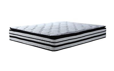 Full Pillow Top - 13 inch Hybrid Innerspring and Memory Foam Mattress with Pillow Top - Full Size