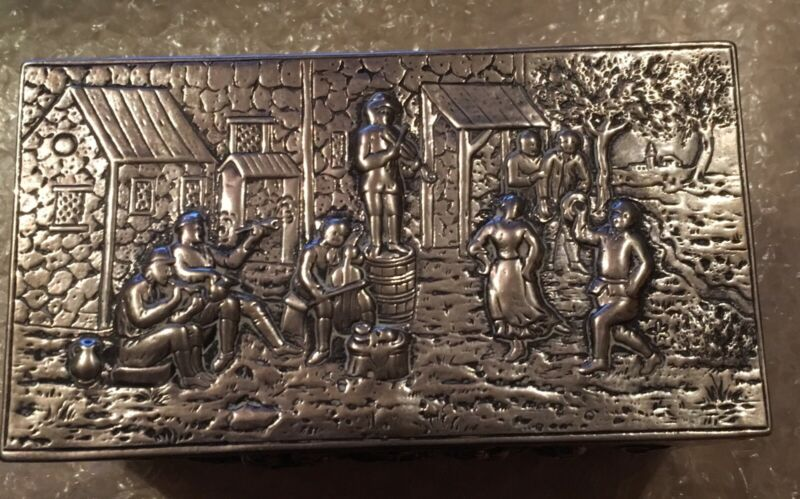 Large Antique Silver Box; Contion: 94/100