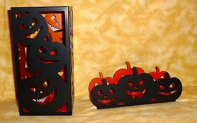 Halloween Tea Light Jars (2 Yankee Candle halloween metal candle holders tea lights & jar orange &)