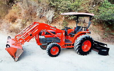Kubota L5030gst Compact 4x4 Tractor Loader With Gannon 4x2 Box Blade Nice