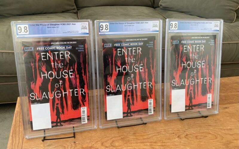 Enter the House of Slaughter FCBD #nn PGX 9.8 Something is Killing In Hand 8/14