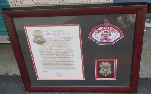 California Long Beach Fire Department Drive Sponsor Commemorative Award w/ Patch